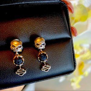Harley Davison studd skull earrings